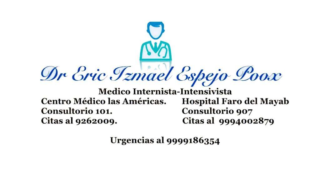Medico Internista en Merida Dr. Eric Espejo